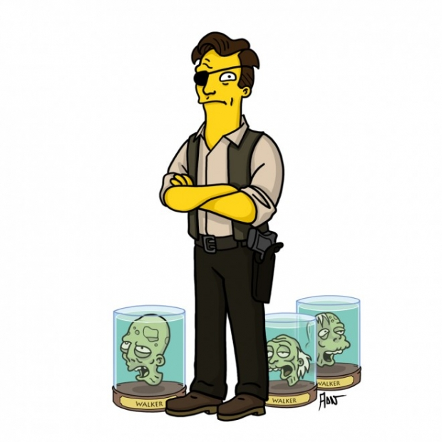 Živí mrtví simpsonized - Guvernér Foto: wired.com